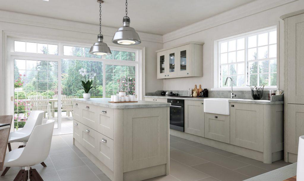 Etonnant Bella Cambridge Oakgrain Grey Kitchen