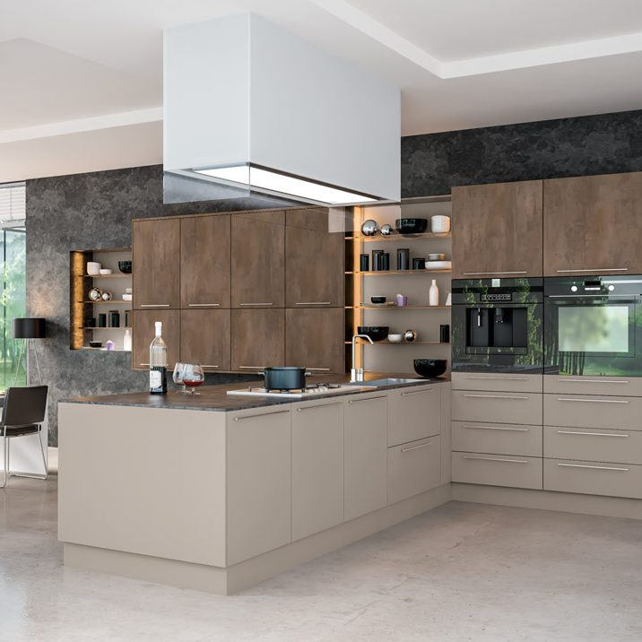 Modern-Kitchen-Brown-Grey